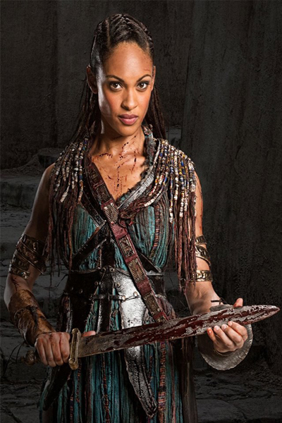 Cynthia in one of the scenes in Spartacus