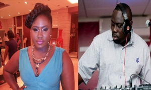 Lydia Forson and DJ Black